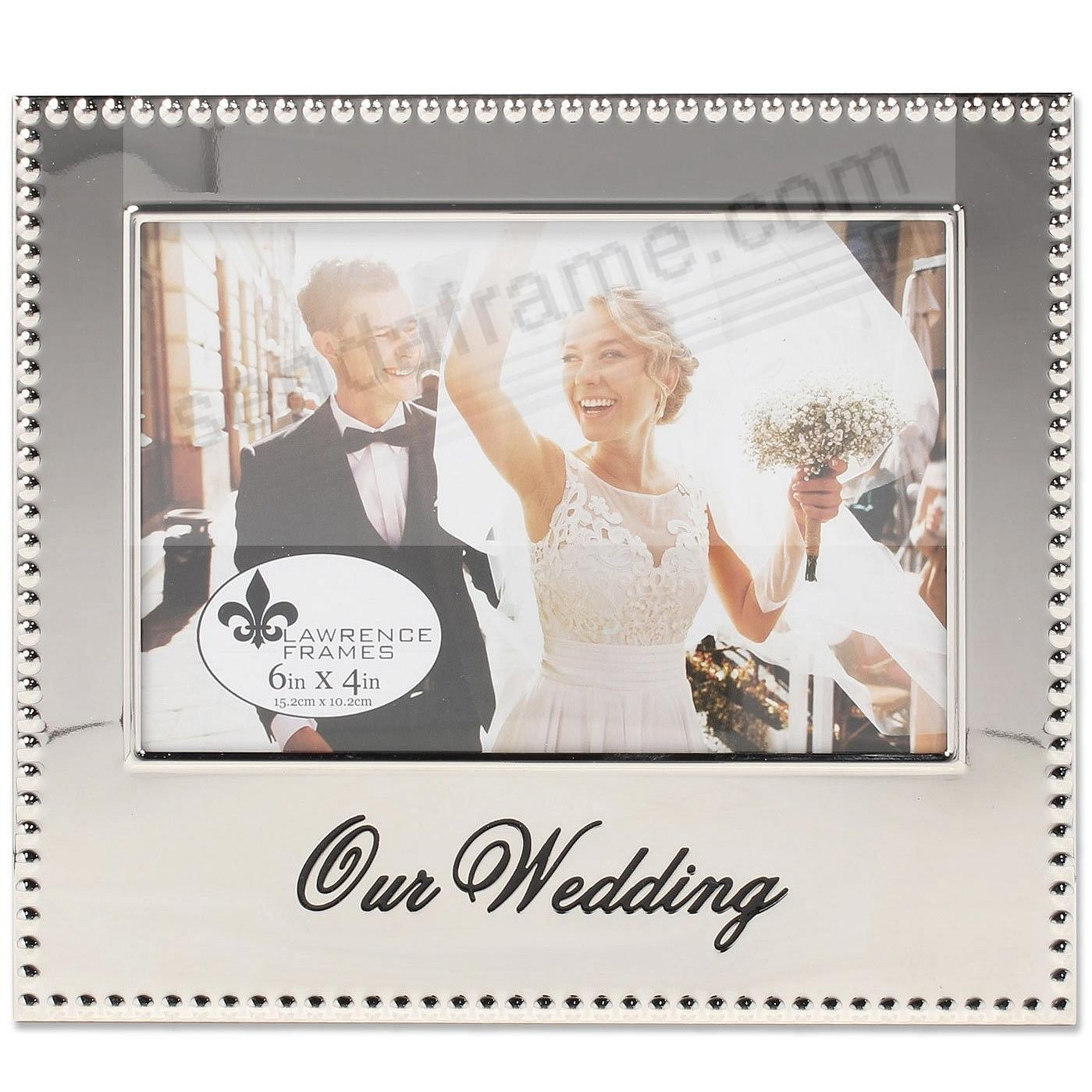 OUR WEDDING special engraved celebration frame