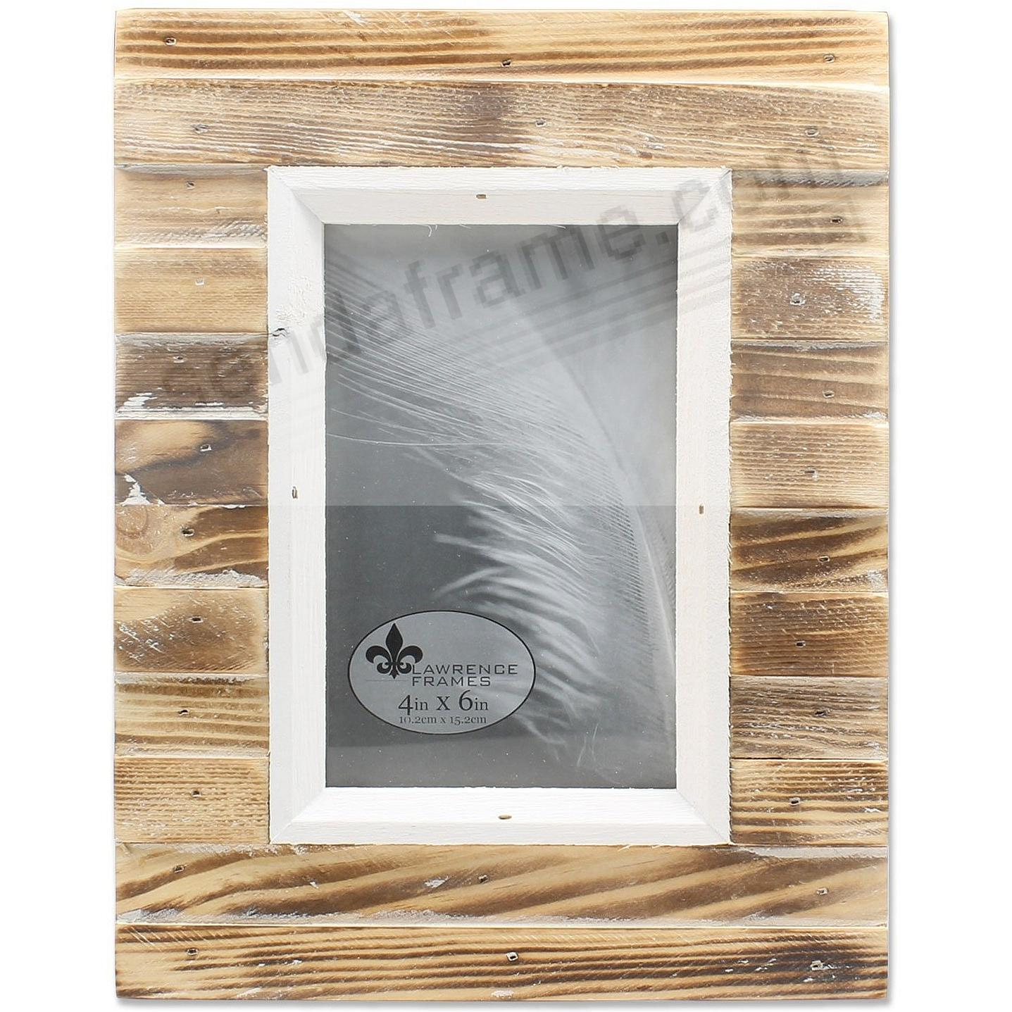 Natural Weathered PICKET FENCE 4x6 frame by Lawrence®