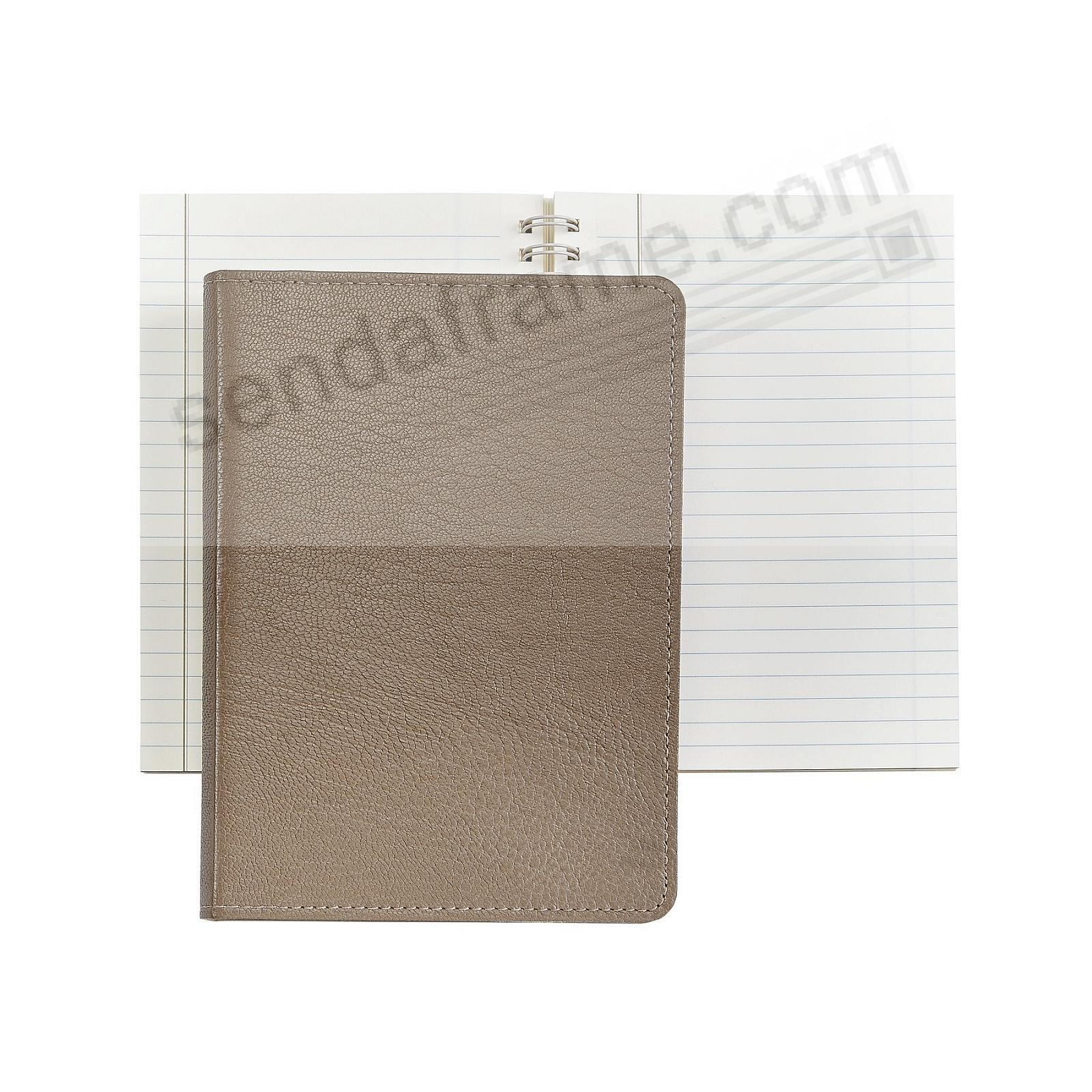 Wire-O-Notebook 7in TAUPE Fine Leather by Graphic Image™