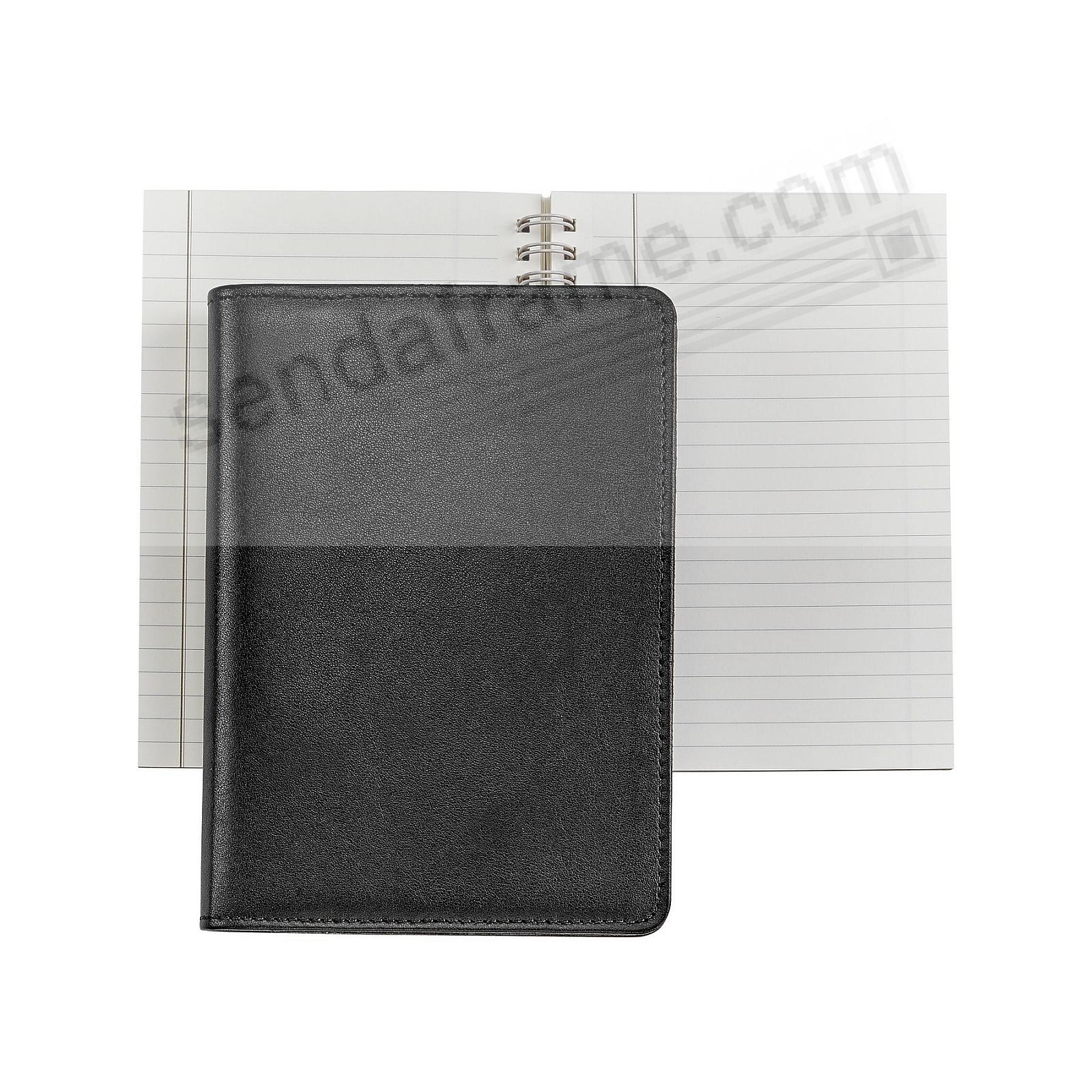 Wire-O-Notebook 7in BLACK Fine Leather by Graphic Image™