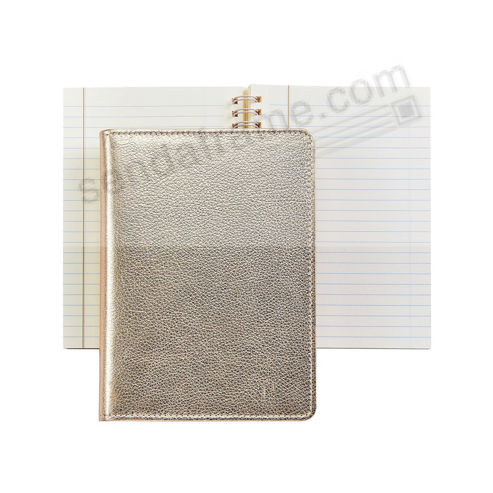 Wire-O-Notebook 7in WHITE GOLD Fine Leather by Graphic Image™