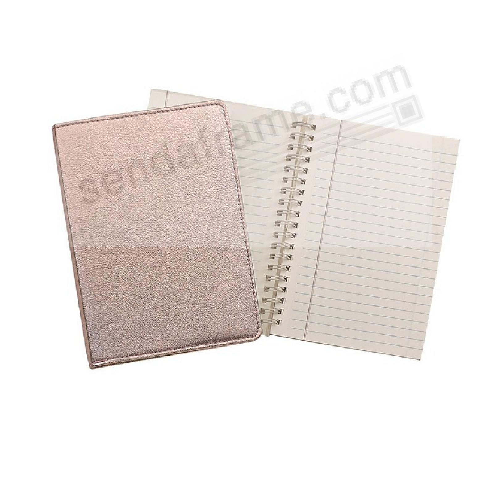 Wire-O-Notebook 7in ROSE GOLD Fine Leather by Graphic Image™