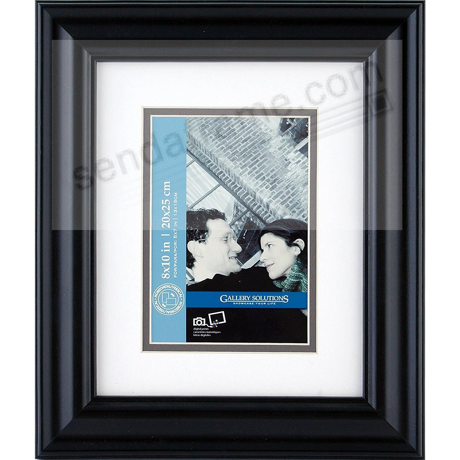 SATIN BLACK 8x10/5x7  frame by Gallery Solutions®