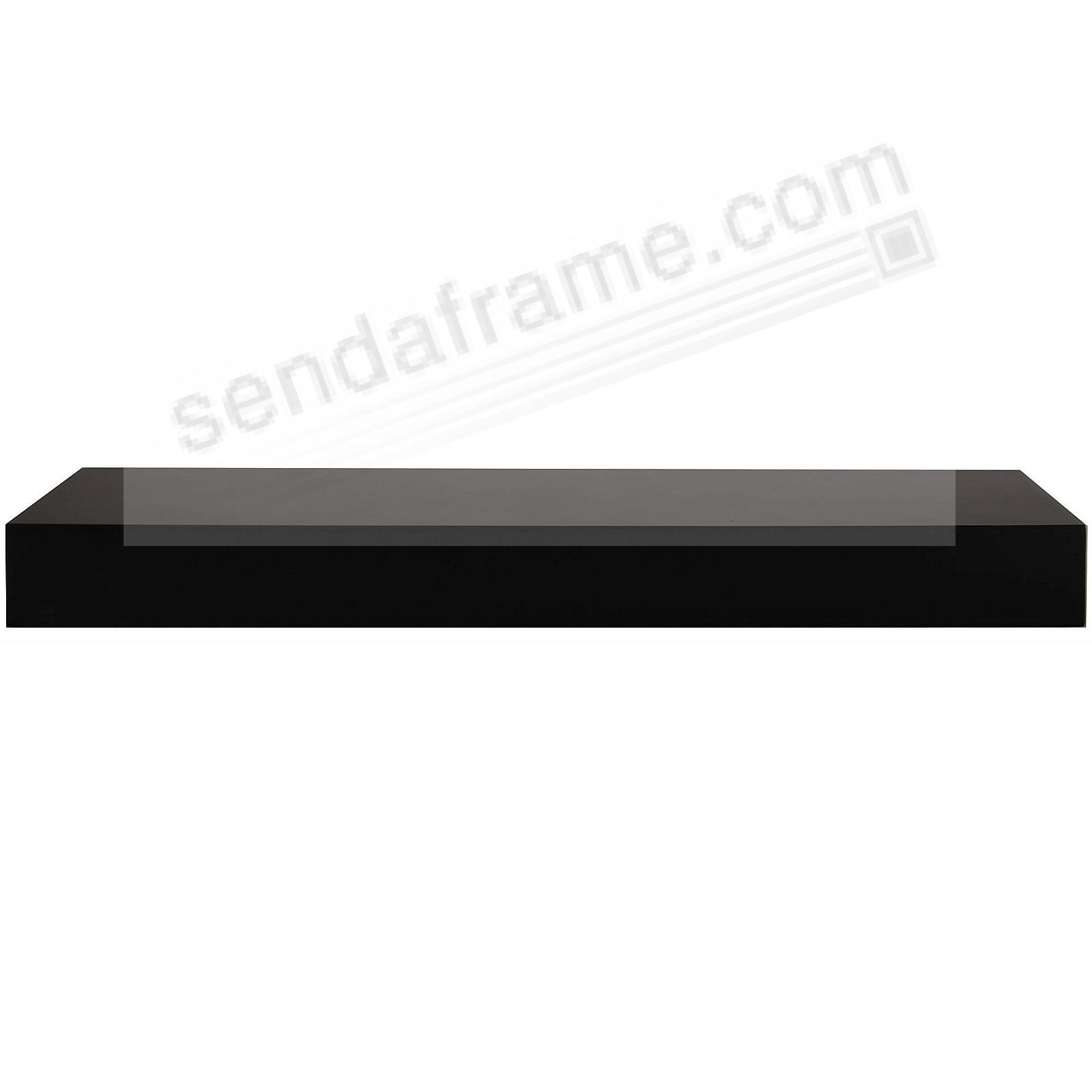 PLANK LEDGE 16in Black by Gallery Solutions