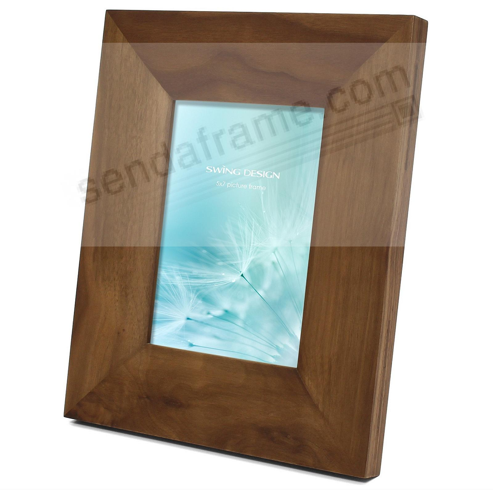 The ARTISAN Brown Solid WALNUT 5x7 frame by Swing Design®