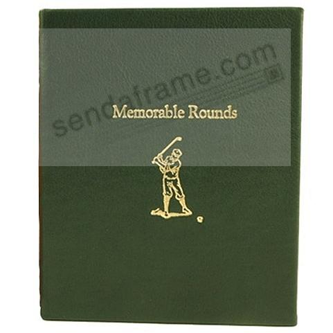 Memorable Rounds Golf Book in Traditional-Green Fine Leather by Graphic Image™