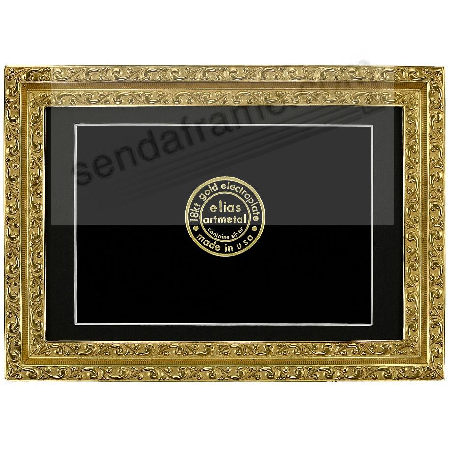 JULIETTE 18kt GOLD VERMEIL Over Fine Pewter 5x7/4x6 frame by Elias Artmetal®