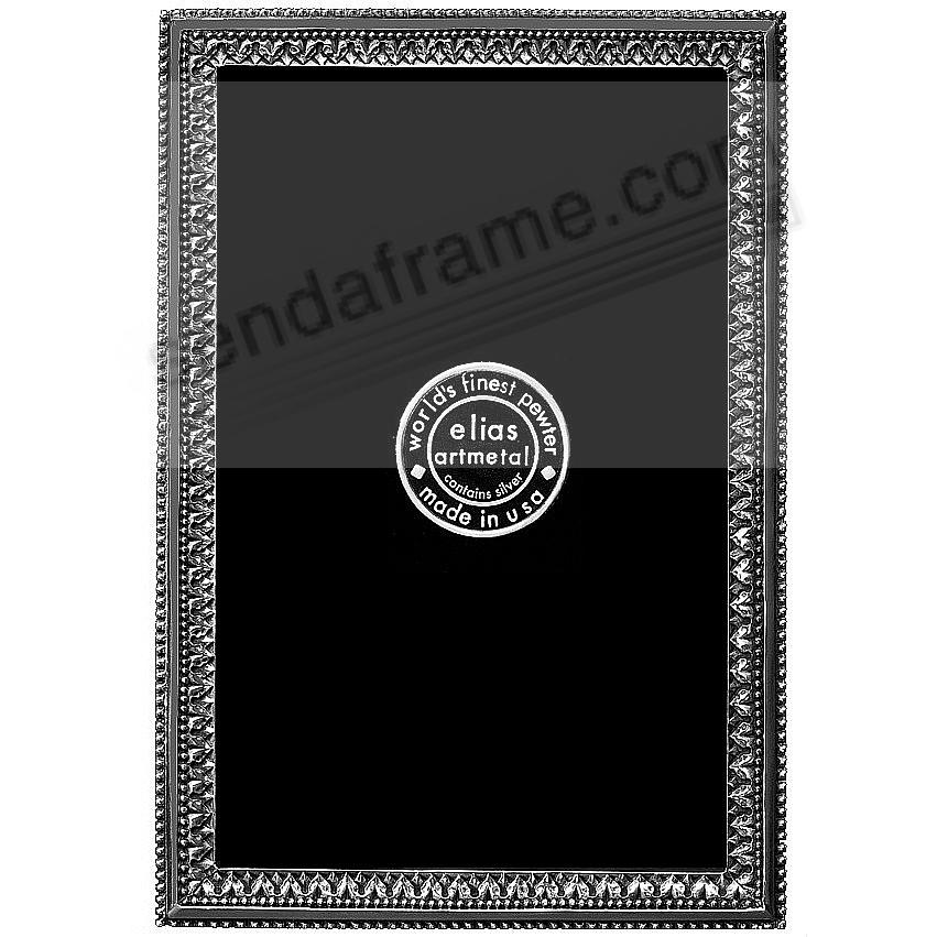 BEADED ACANTHUS fine Silvered Pewter 3x4 frame by Elias Artmetal®