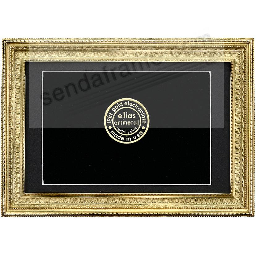 MUSEUM GALLERY 18kt Gold Vermeil over Fine Pewter 5x7/4x6 frame by Elias Artmetal®