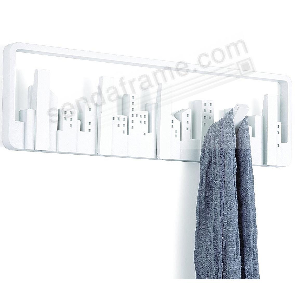 The Original SKYLINE White Wall-Mount Rack w/5-Hooks by Umbra®