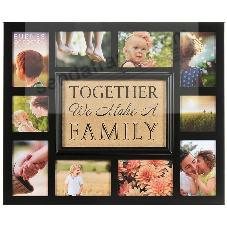 TOGETHER WE MAKE A FAMILY Fabric Insert Collage by Burnes®