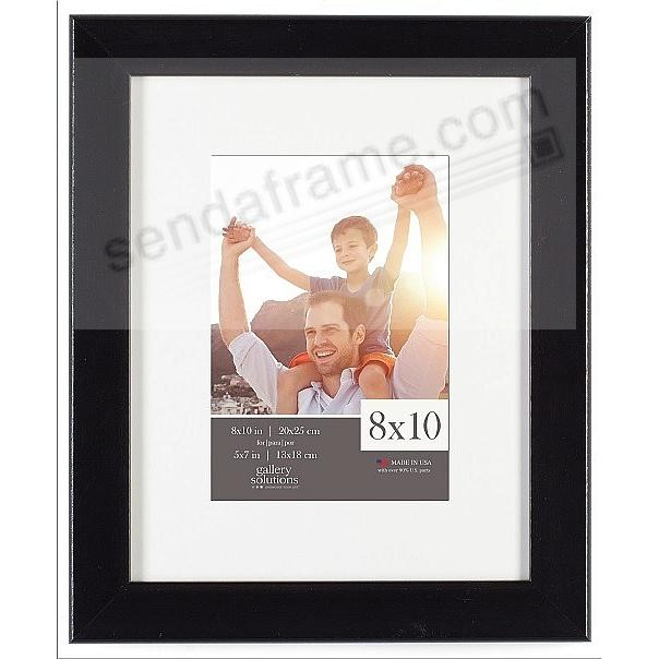 Glossy Black 8x10/5x7 matted frame by Gallery Solutions™