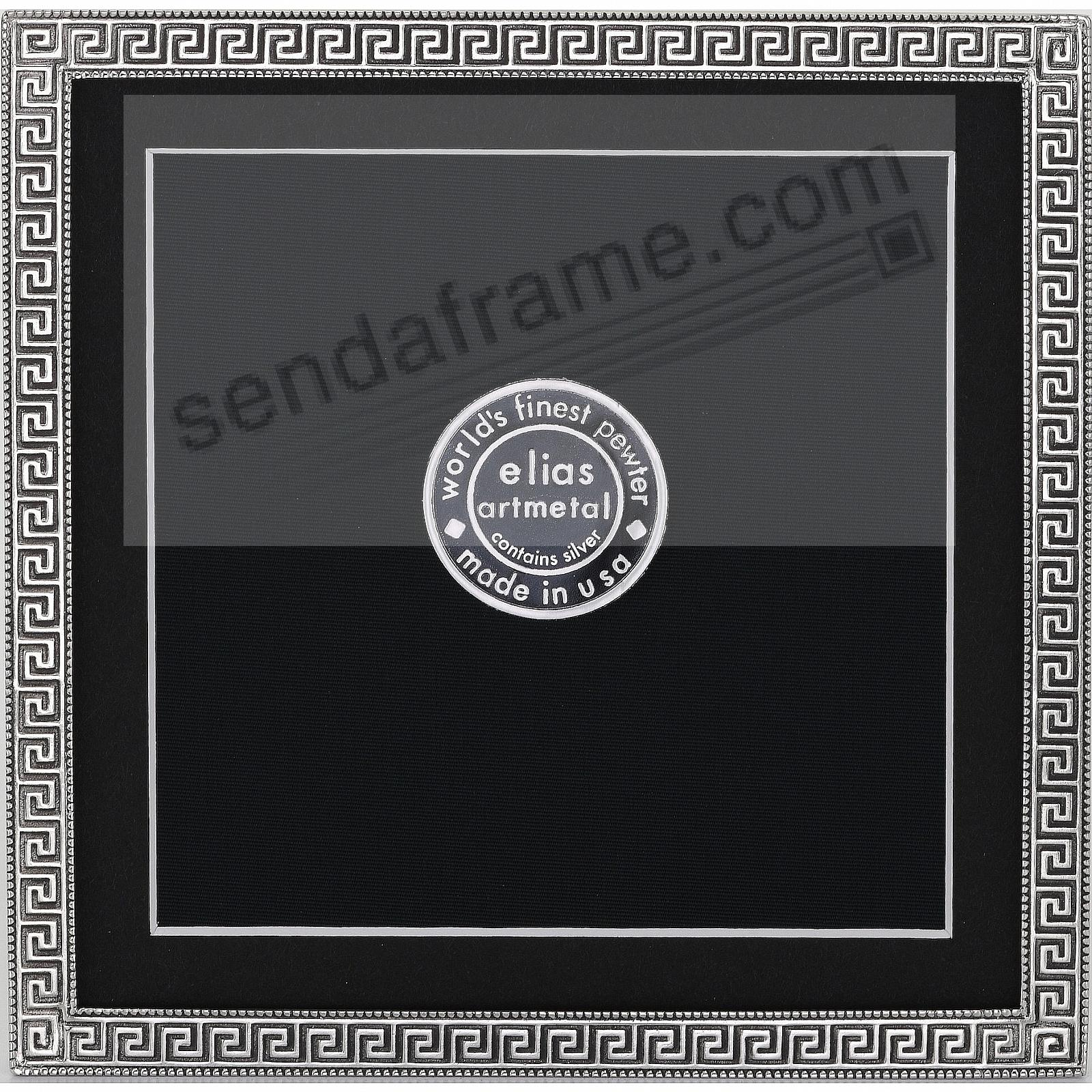 GREEK KEY Fine Pewter 5x5/4½x4½ frame by Elias Artmetal®