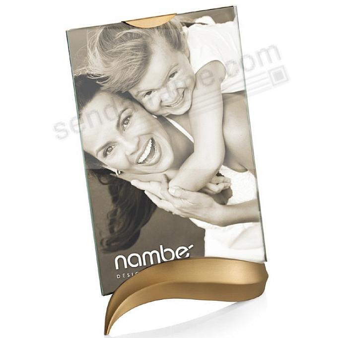 ECO Champagne-Gold modern design 5x7 frame by Nambe'®