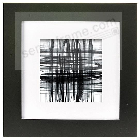 Classic Black Gallery Wood Frame 8x8/5x5 by Burnes of Boston®