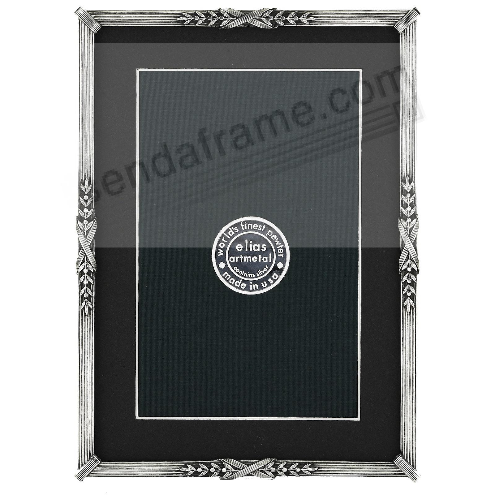 LOUISE luxe silvered fine pewter 5x7/4x6 by Elias Artmetal®