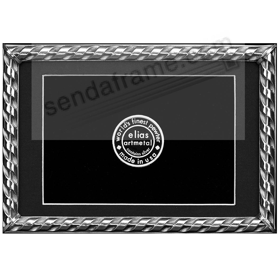 RIBBON Fine Silvered Pewter frame 4x6/3½x5½ by Elias Artmetal®