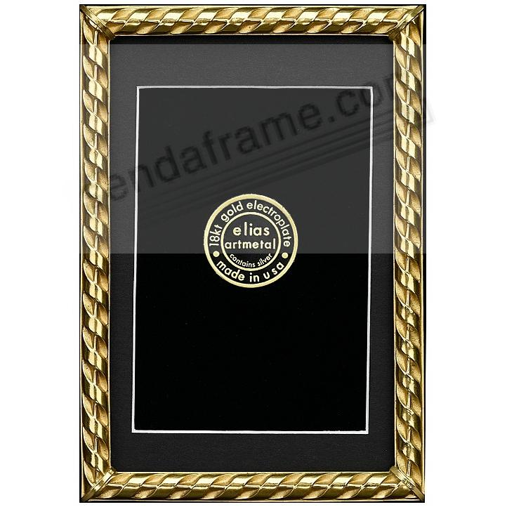 RIBBON 18kt Gold Over Fine Pewter 5x7/4x6 frame by Elias Artmetal®