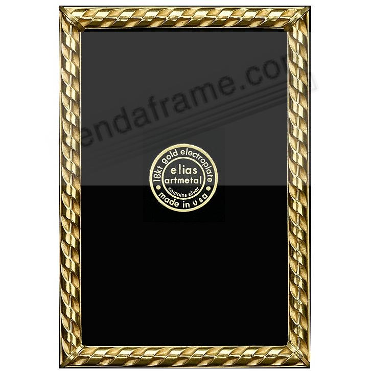 RIBBON 18kt Gold Over Fine Pewter 3x4 frame by Elias Artmetal®