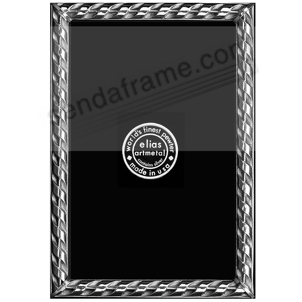 RIBBON Fine Silvered Pewter frame 3x4 by Elias Artmetal®