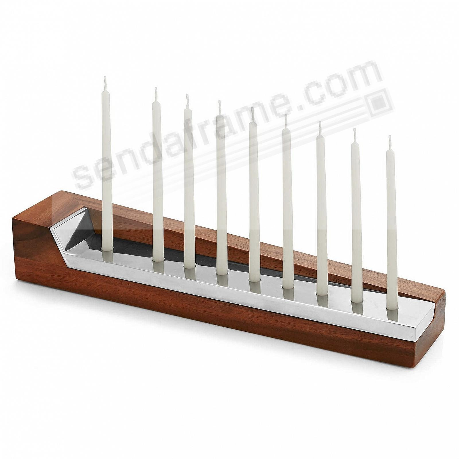 THE GEO MENORAH crafted by Nambe®