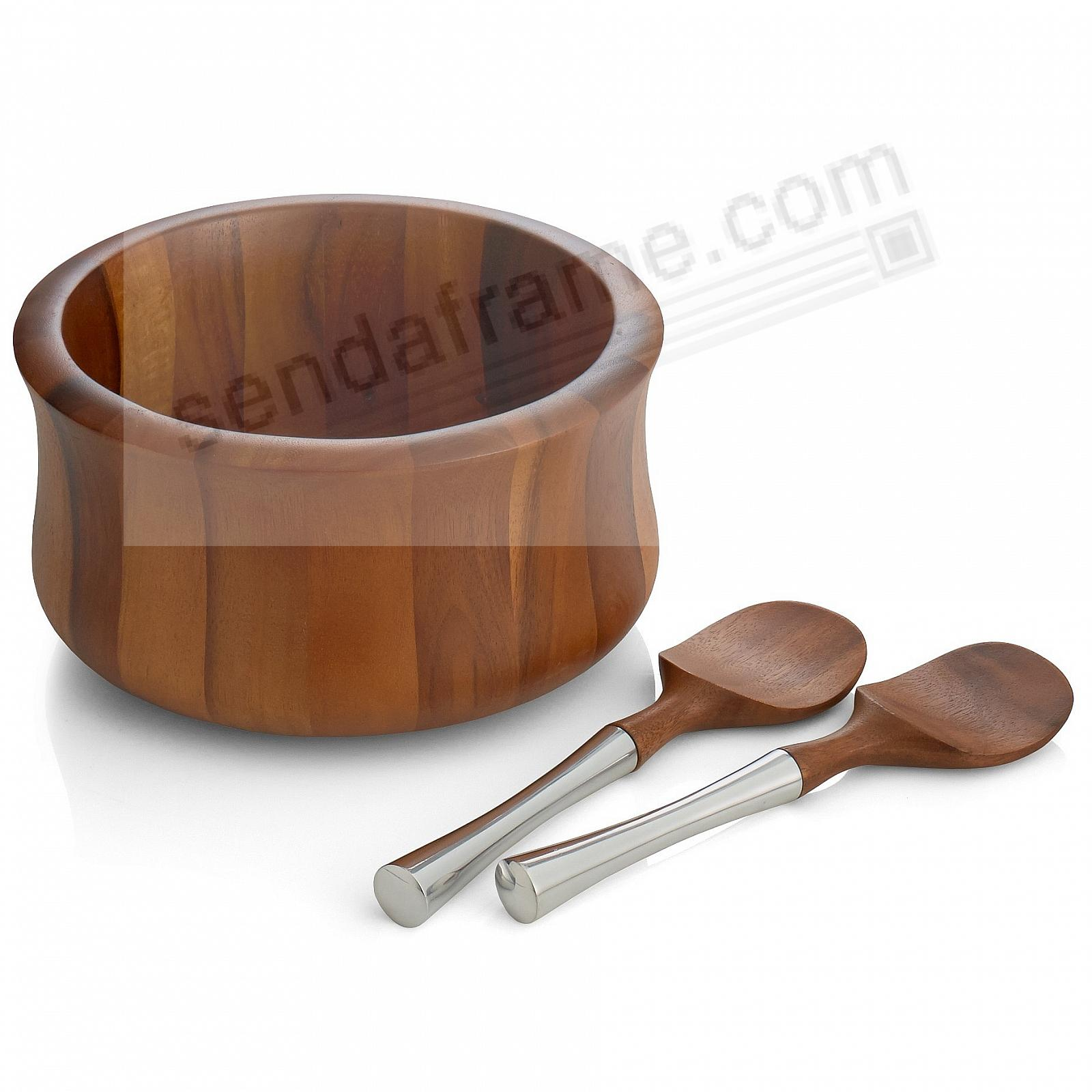 The Original NARA SALAD BOWL w/SERVERS crafted by Nambe®
