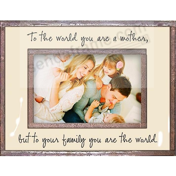 TO THE WORLD YOU ARE A MOTHER... Copper + Clear Glass by Ben's Garden®