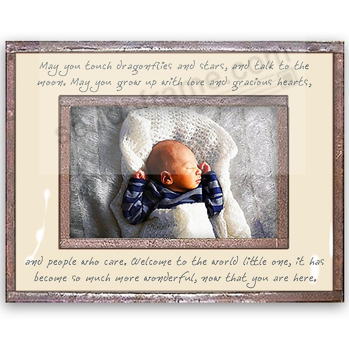 ... NOW THAT YOU ARE HERE Copper + Clear Glass by Ben's Garden® For A Newborn Gift