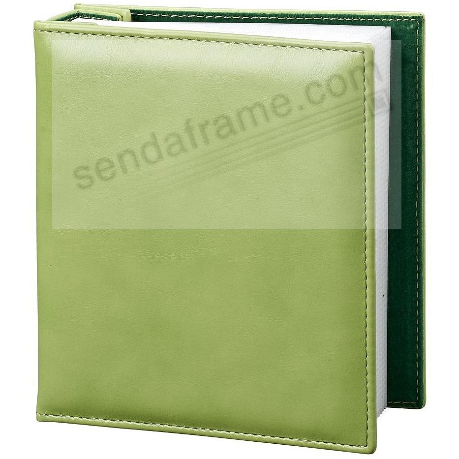 Lime-Green photo album holds 100 photos