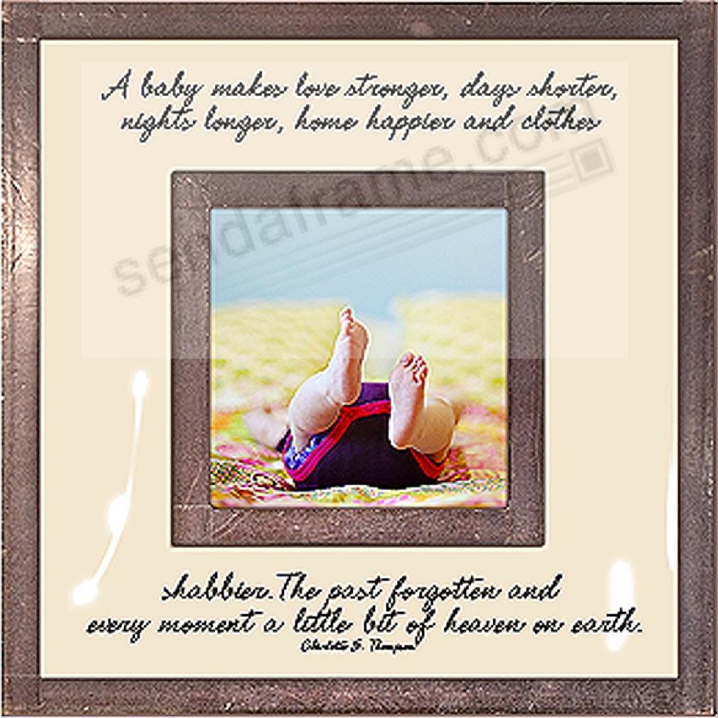 A BABY MAKES LOVE STRONGER... Copper + Clear Glass 3x3 frame by Ben's Garden®