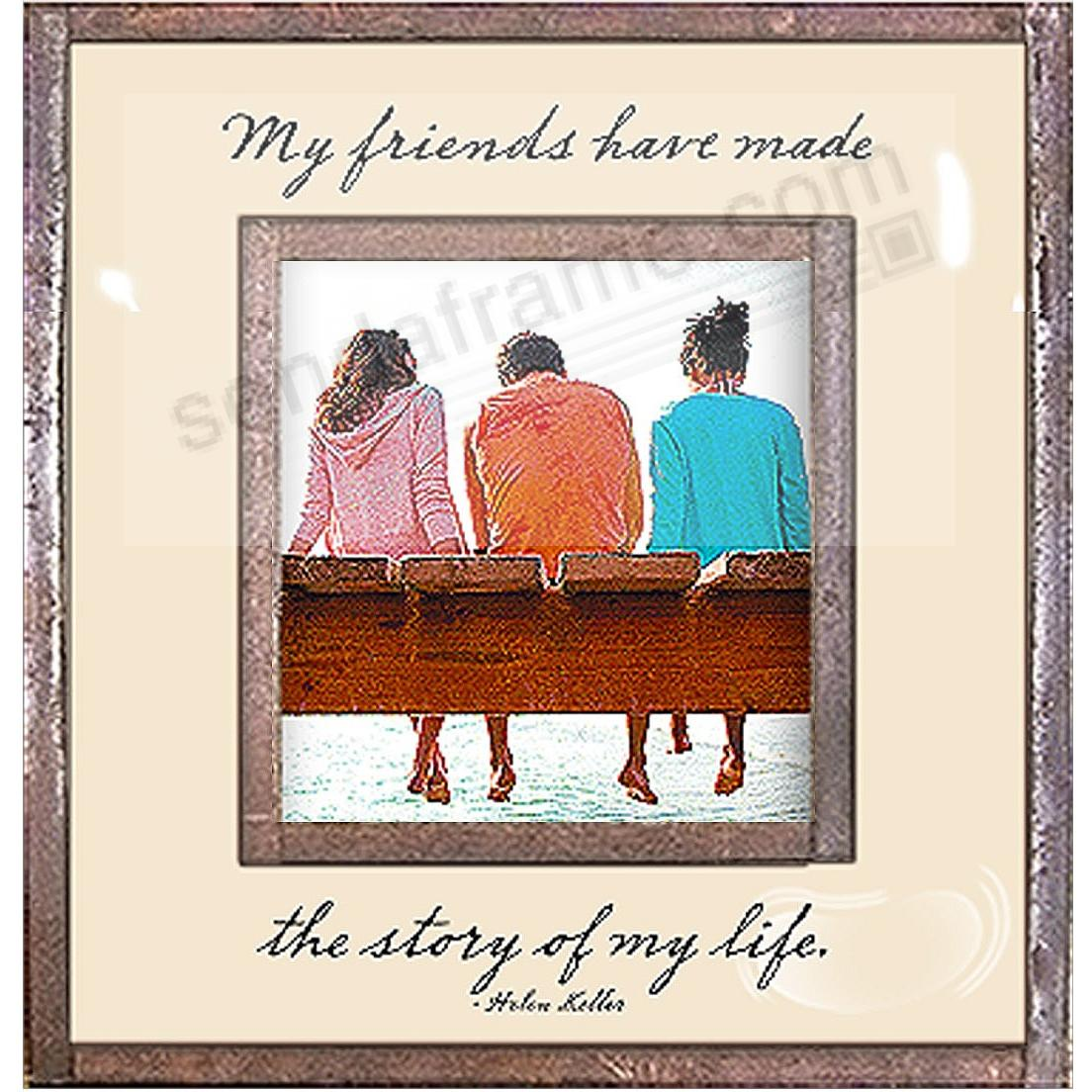MY FRIENDS HAVE MADE THE STORY OF MY LIFE Copper + Clear Glass by Ben's Garden®