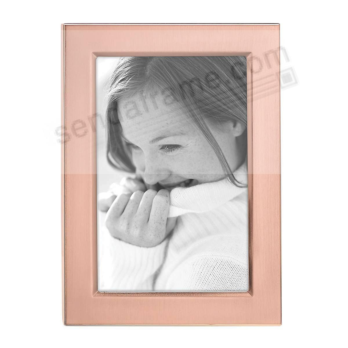 Reed & Barton® CLASSIC ROSE GOLD 4x6 engraveable frame