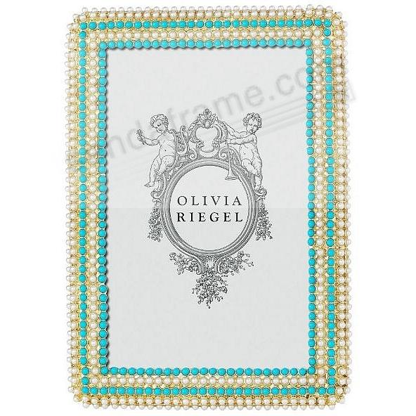 CAROLINE Pearl + Turquoise 4x6 frame by Olivia Riegel®