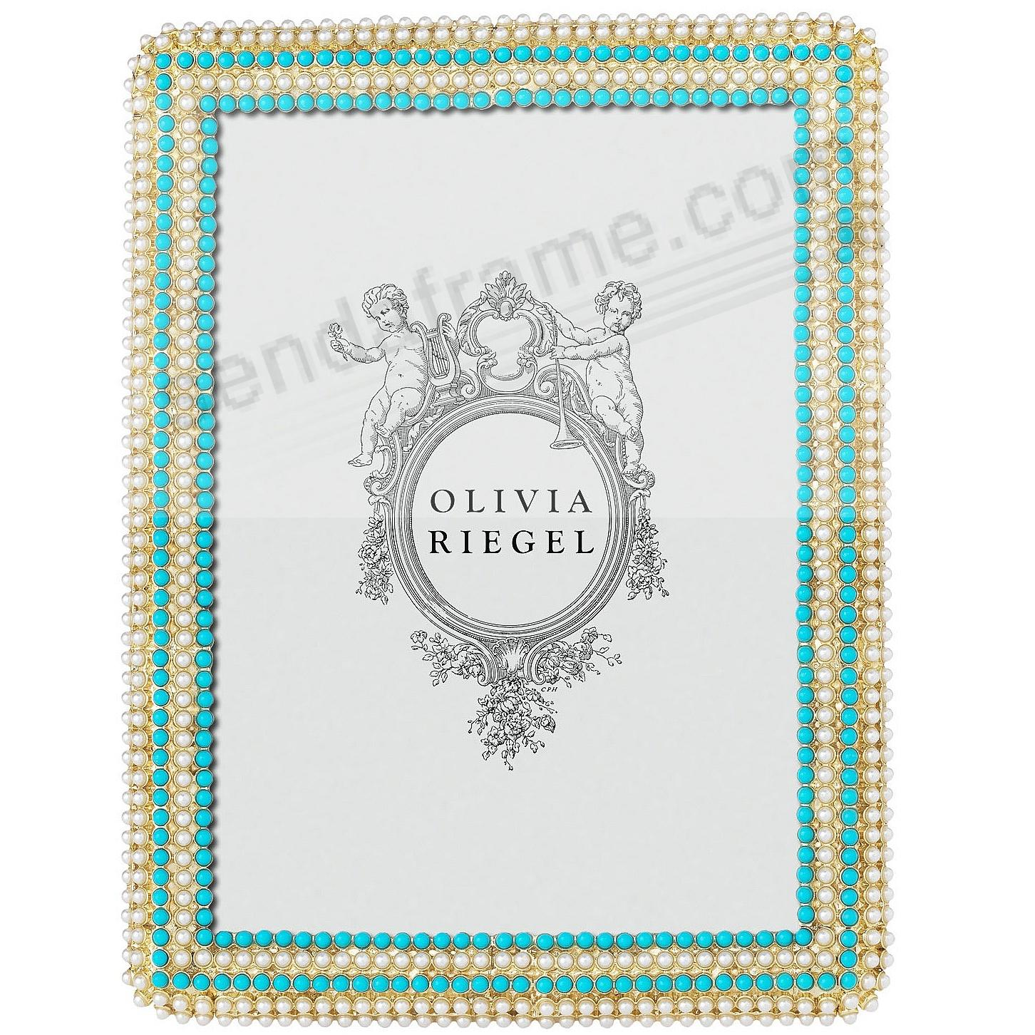 CAROLINE Pearl + Turquoise 5x7 frame by Olivia Riegel®