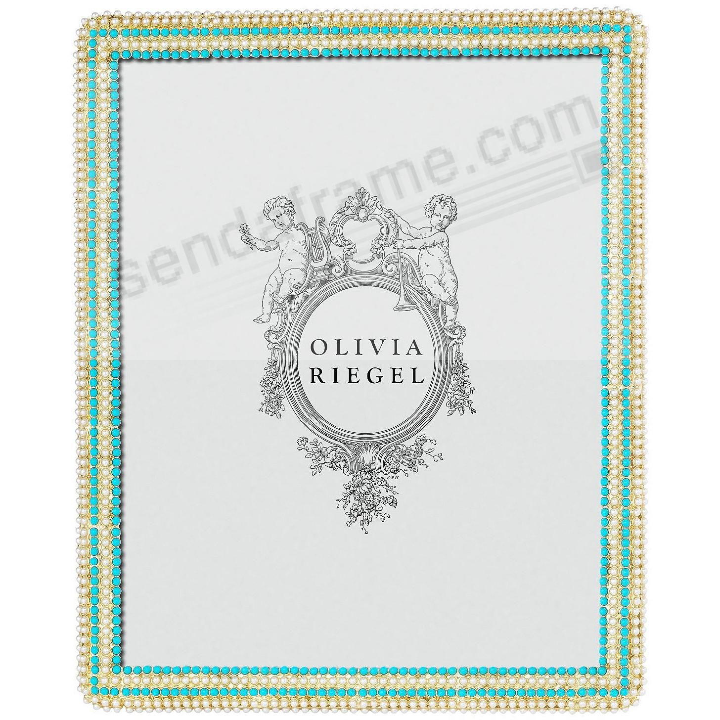 CAROLINE Pearl + Turquoise 8x10 frame by Olivia Riegel®
