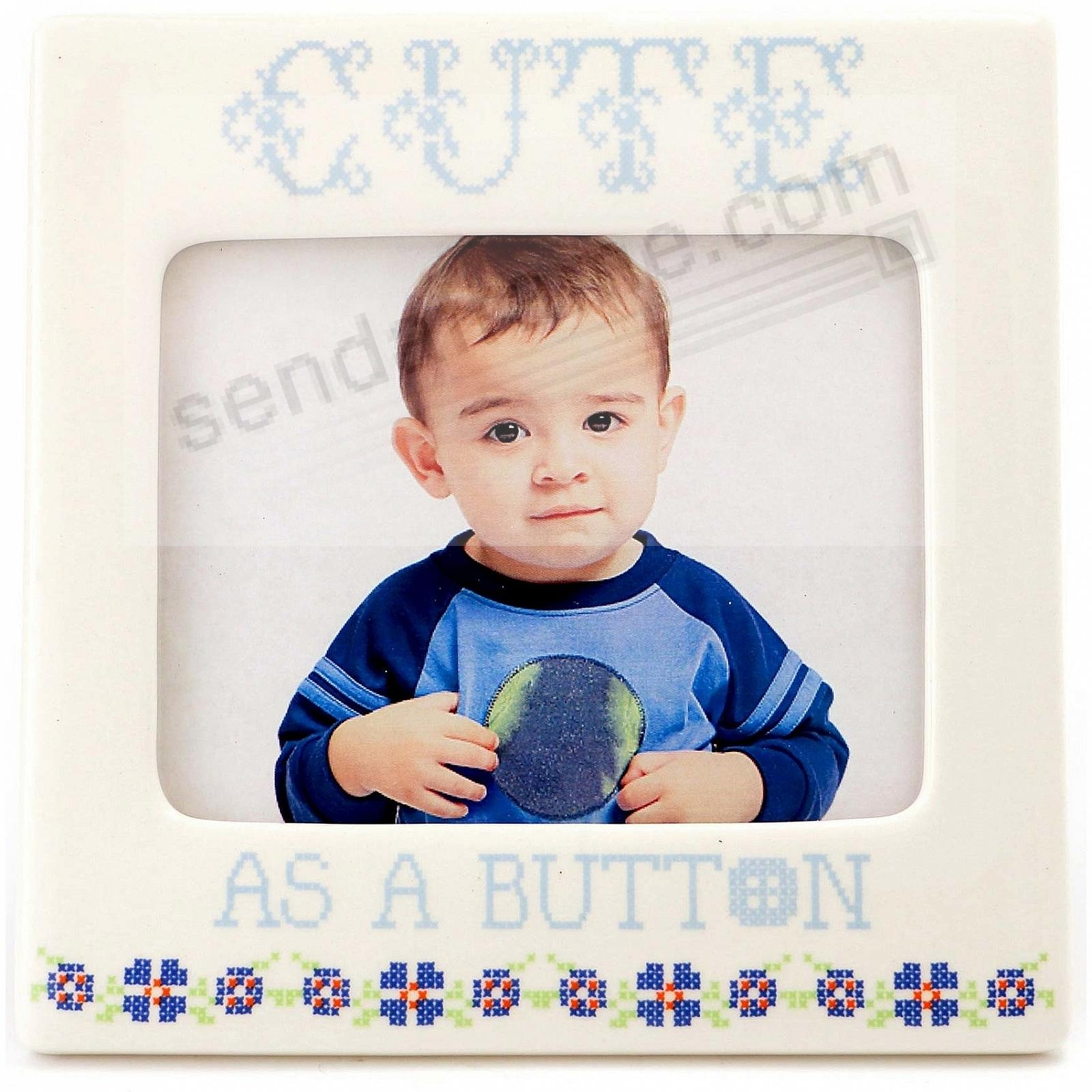 BLUE CUTE AS A BUTTON frame by Our Name is Mud®