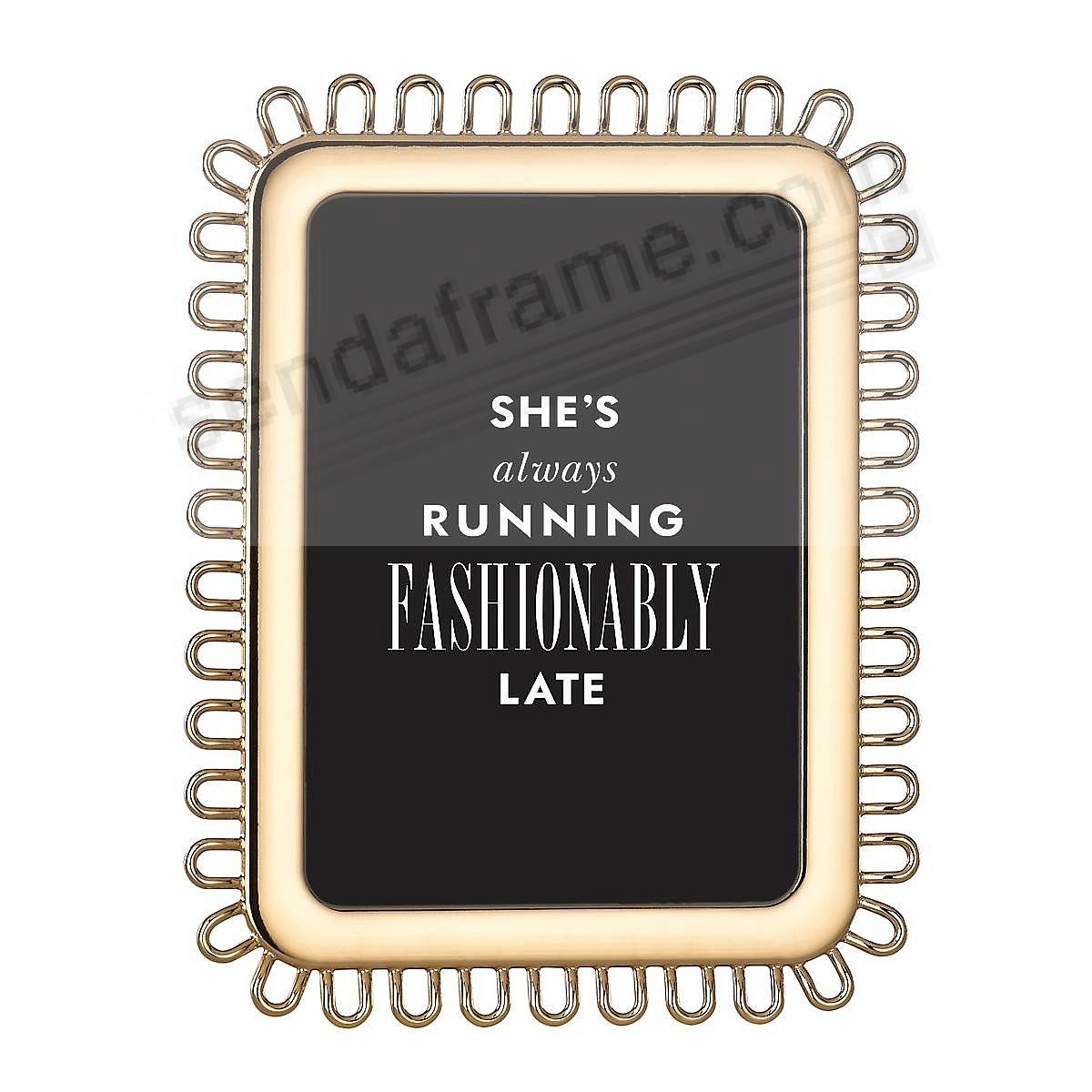 KEATON STREET GOLD frame for 5x7 prints by kate spade new york®