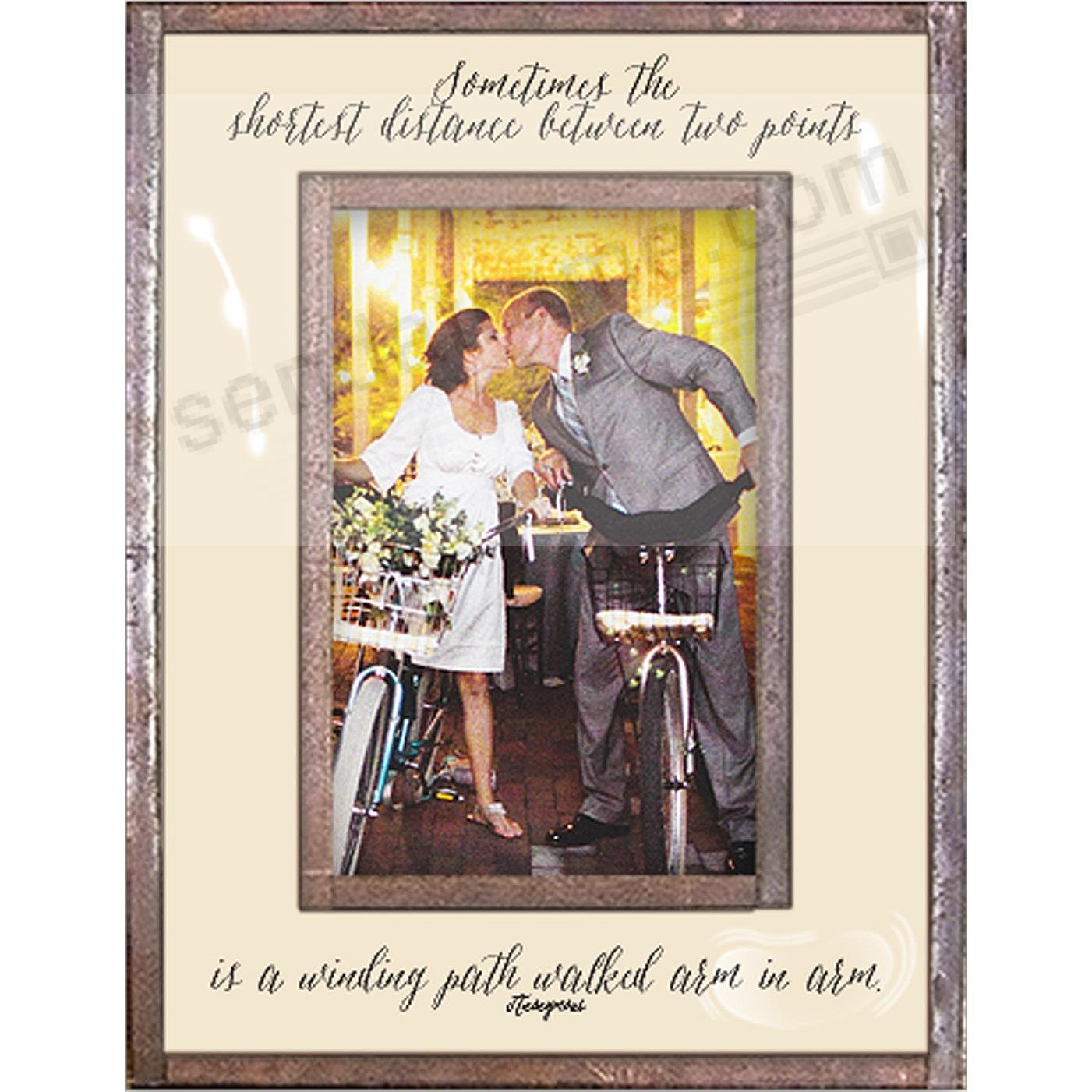 SOMETIMES THE SHORTEST DISTANCE...IS ARM IN ARM  Copper + Clear Glass Frame by Ben's Garden®