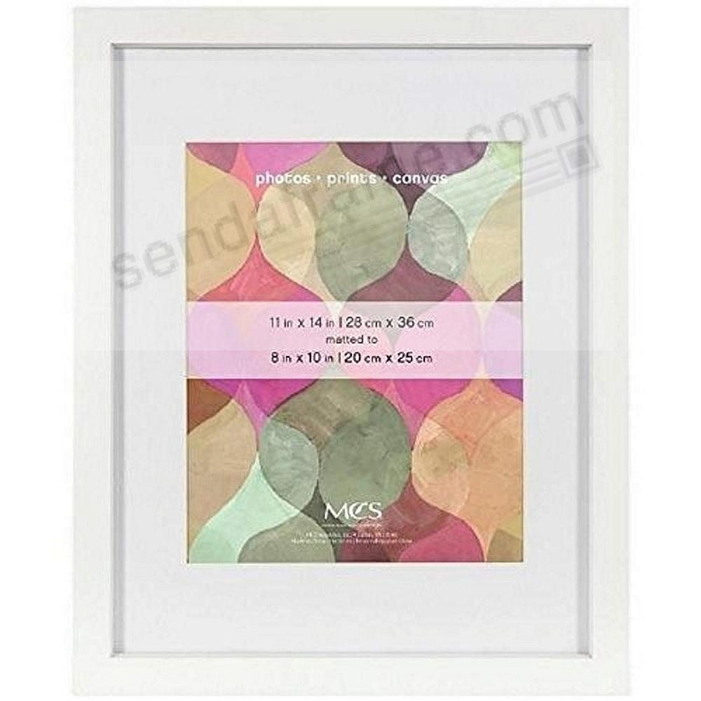 Dramatic Art Shadow-Box 11x14/8x10 White Wood frame by MCS®