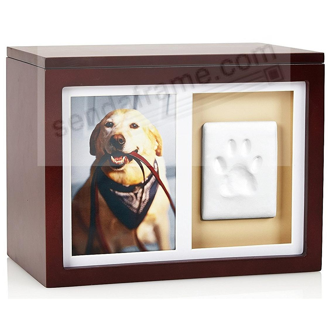 Pawprints® Mahogany Keepsake 5x7/4x6 frame + Box Kit