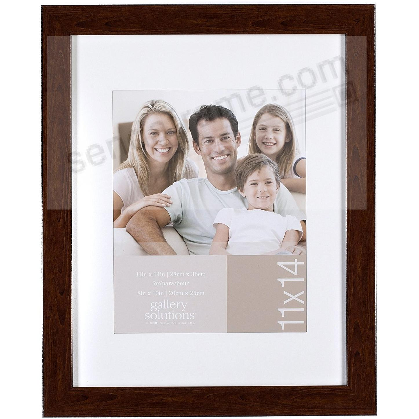 Brown-Ashwood 11x14/8x10 matted frame by Gallery Solutions™