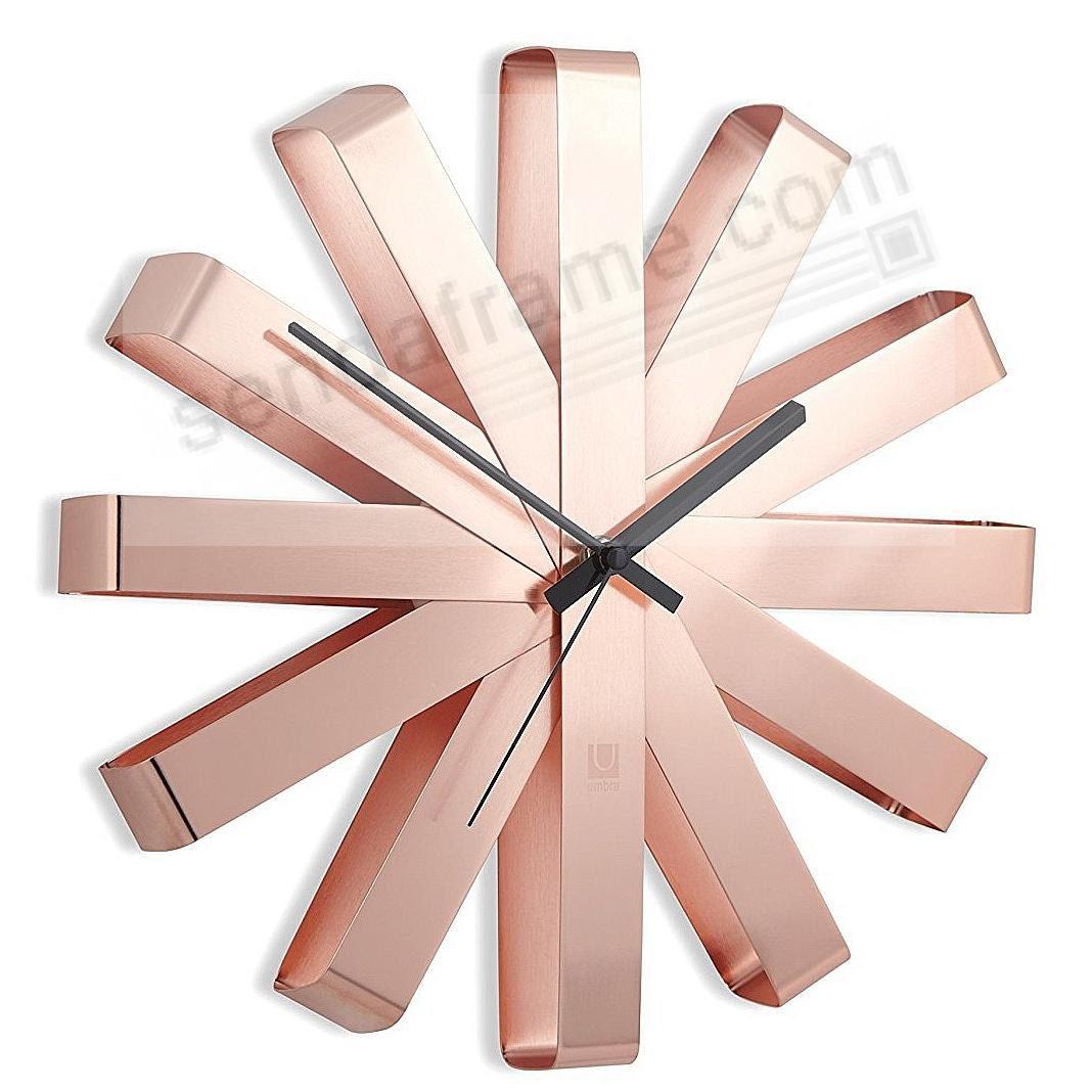 The original RIBBON WALL CLOCK in COPPER/Black by Umbra®