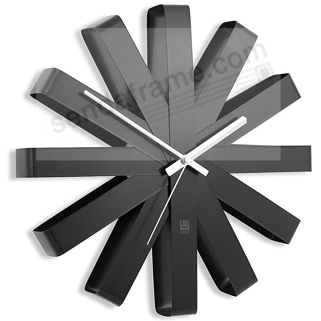 The original RIBBON WALL CLOCK in BLACK/Silver by Umbra®