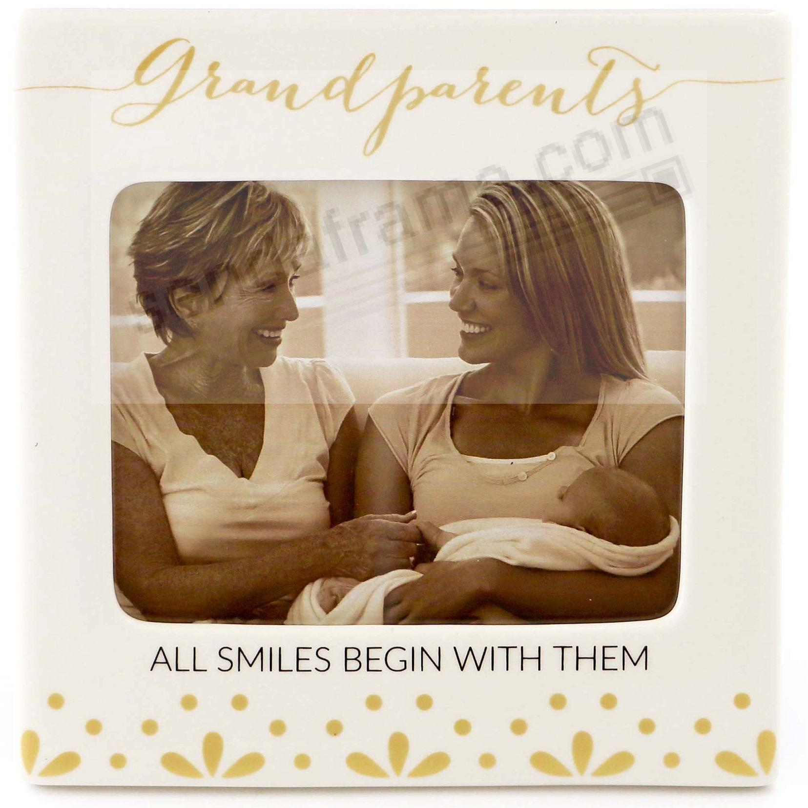 GRANDPARENTS ~ ALL SMILES BEGIN WITH THEM Frame by Our Name is Mud®