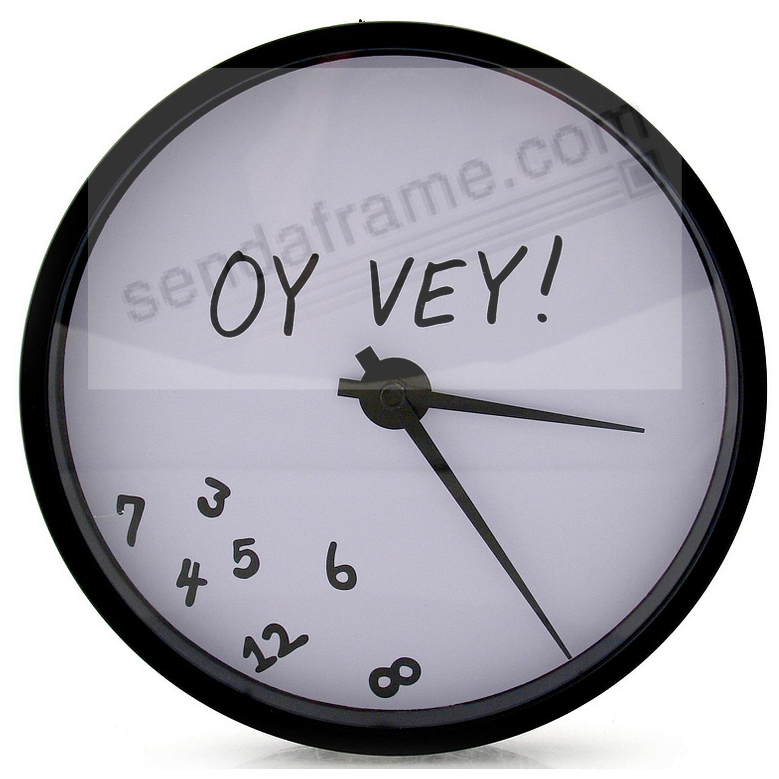OY VEY! 8-inch Round Wall Clock by Our Name is Mud®