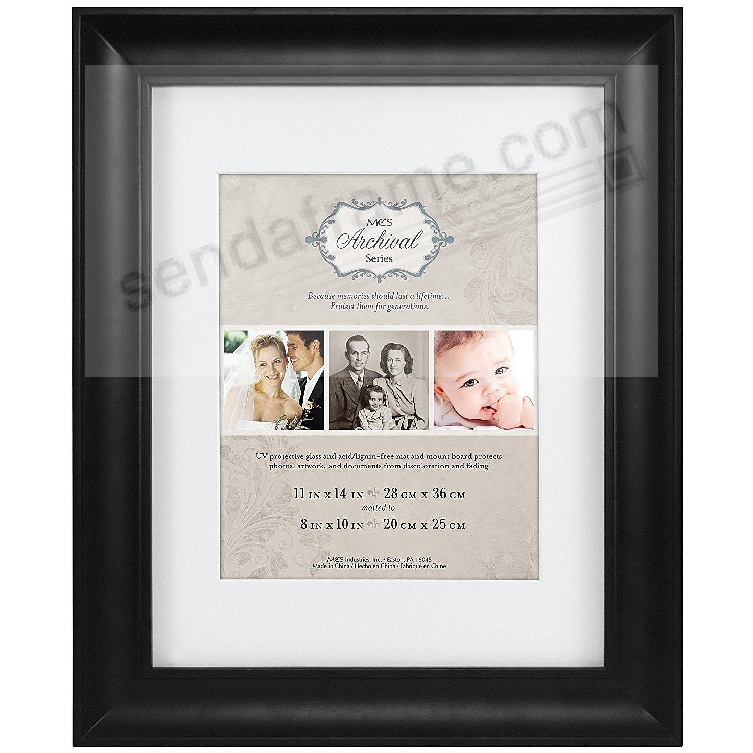 Black ARCHIVAL SERIES Matted Wood frame 16x20/11x14 by MCS®