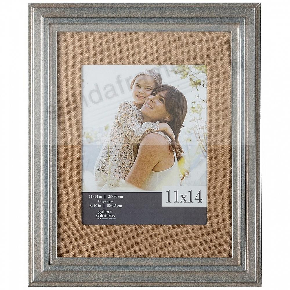 Pewter-Stain Wood Wall Frame 11x14 matted to 8x10 by Gallery Solutions™