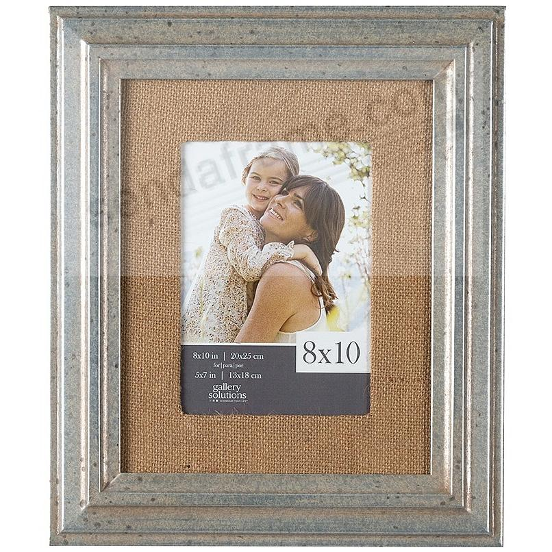 Pewter-Stain Wood Wall Frame 8x10 matted to 5x7 by Gallery Solutions™