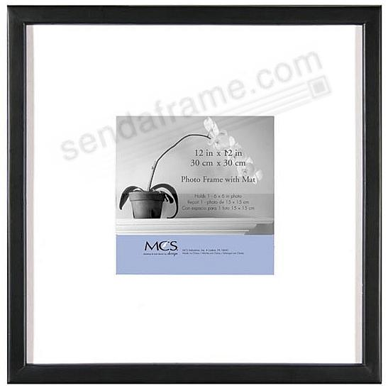 EAST VILLAGE Black Wood 12x12/6x6 Wall Frame from MCS®
