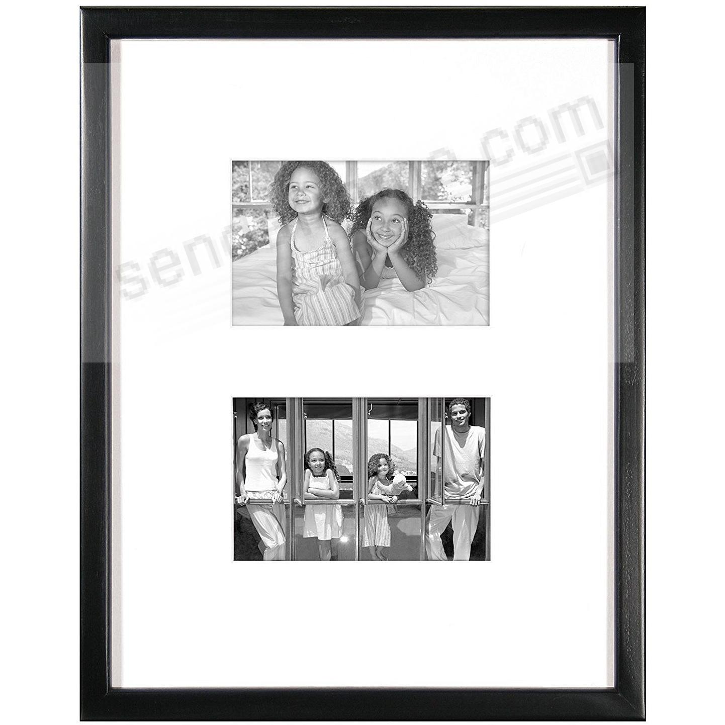 EAST VILLAGE Black Wood Double 4x6/11x14 Wall Frame from MCS®